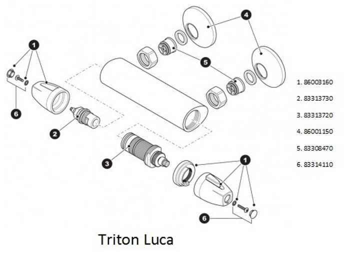 Triton Luca Shower Spares