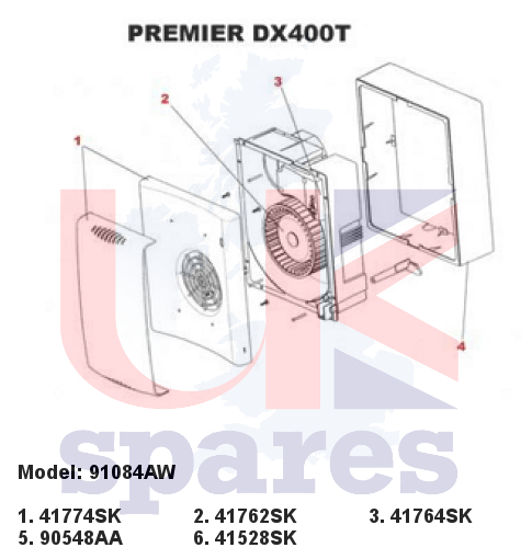 Xpelair 91084aw Premier Dx400t Extractor Fan 2002
