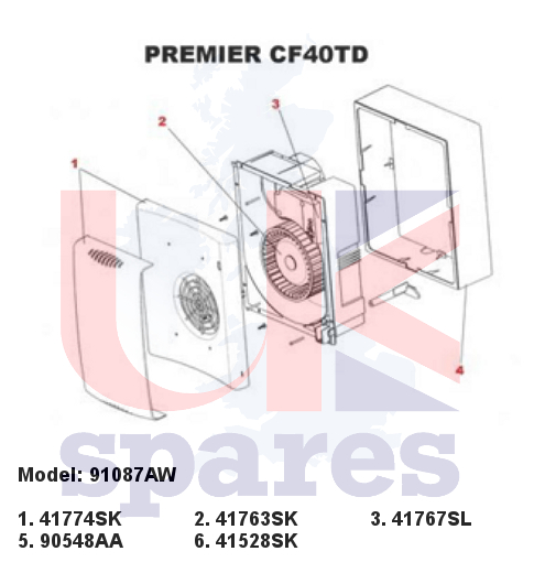 Xpelair 91087aw Premier Cf40td Extractor Fan 2002