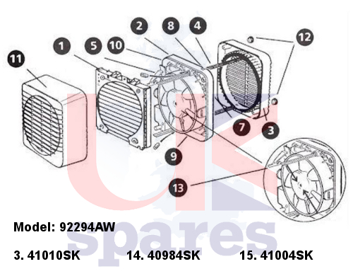 Xpelair 92294aw Gx6 Ec2 Extractor Fan 2007 Current Spares